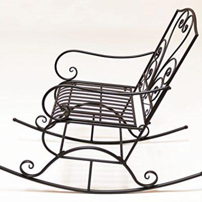 30b95ad69 Mecedora Hierro Corazón de diseño de marrón oscuro vintage Relax Silla silla  de metal muebles de jardín jardín