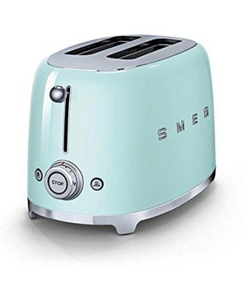 SMEG TSF01 - Tostadora para 2 rebanadas verde claro/lacado/6 niveles de tostado/31x19,5x19,8cm