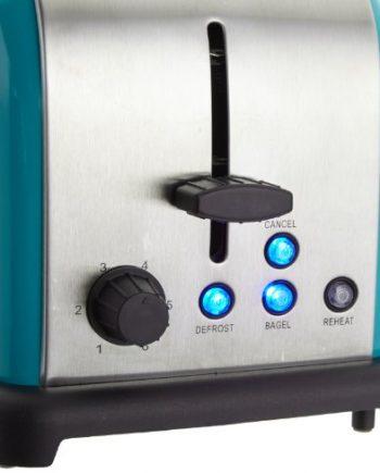 Klarstein 10005178 - Tostador de 2 ranuras (acero, 1000 W), color azul