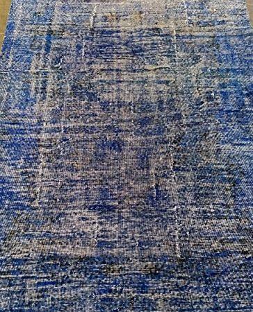Vintage Alfombra Azul/Negro