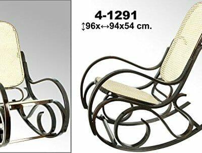 8234869b0 DonRegaloWeb – Mecedora de madera en color caoba estilo vintage