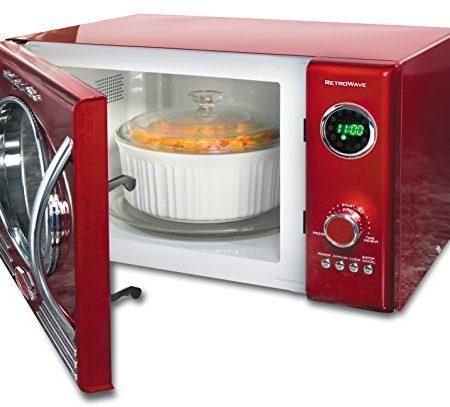 Domena FC 810 - Microondas (900W, 230V, 50 Hz, 320 x 345 x 200 mm) Rojo