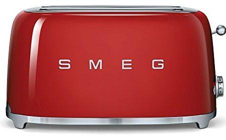 Smeg TSF02RDEU - Tostadora, 1500 W, color rojo