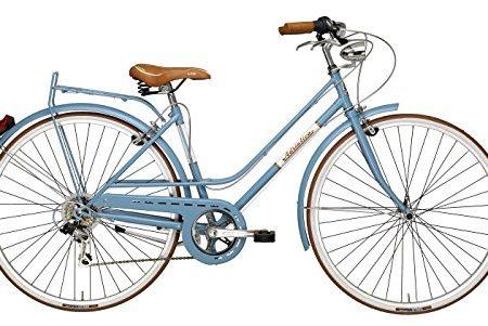 Adriatica - Bicicleta Clasica Mujer Retro Vintage Rondine Azul