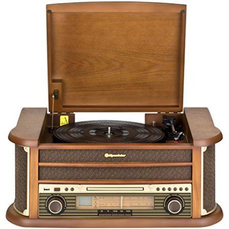 Roadstar HIF-1899TUMPK - Tocadiscos (AM/FM, reproductor de CD, USB), color marrón