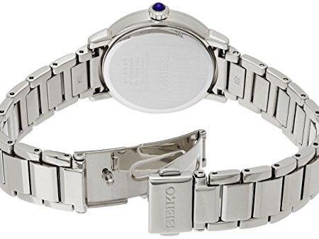 Seiko-Reloj de pulsera analógico para mujer cuarzo acero inoxidable srz447p1