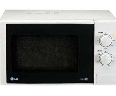 LG MH6322D - Microondas con grill, 23 litros de capacidad, 800 W y potencia grill 1000 W, color blanco