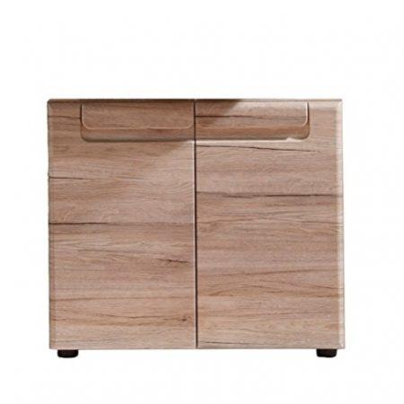 trendteam 132430190 Malea - Mueble bajo lavabo (65 x 56 x 35 cm, estructura delantera roble San Remo claro)