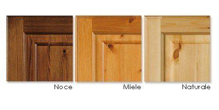 Alacena rustica 3 puertas en pino macizo - color nogal