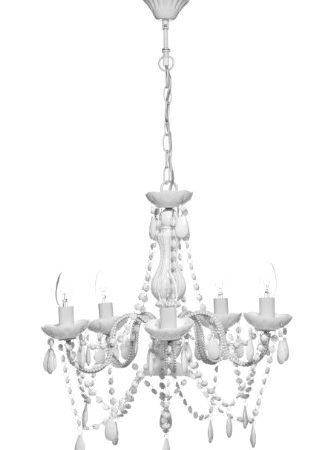 Premier Housewares 5-brazo negro diseño de lámpara de araña acrílica Beads_Parent