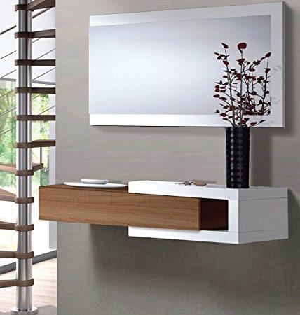 Mueble de entrada recibidor Salon Comedor Sala Oficina Color Nogal. Fabricación Nacional