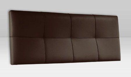 Adec - Cabezal polipiel 160 square, medidas 160 x 4 x 55 cm, color chocolate