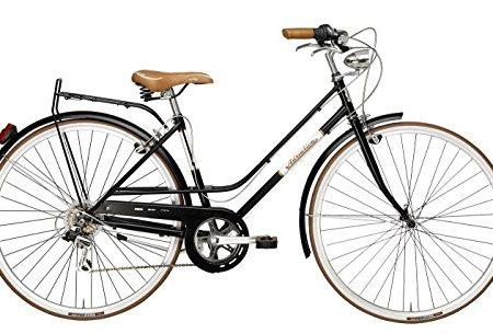 Adriatica - Bicicleta Clasica Mujer Retro Vintage Rondine Negro