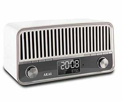 Akai APR500WE - Radio con Bluetooth, diseño vintage, color blanco