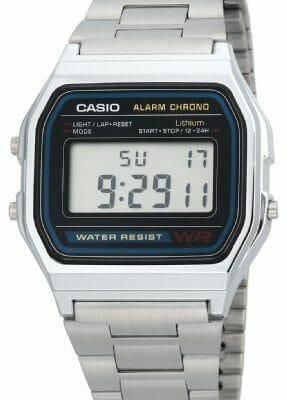 Casio A158WA-1DF - Reloj Unisex metálico Negro / Plata