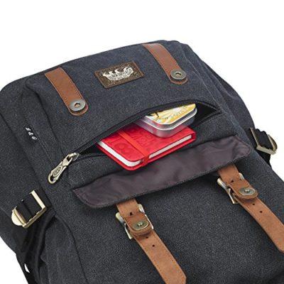 Mochila vintage con espacio para el ordenador portátil hasta 15 aduanas, como mochila de cada día, para la universidad, en aspecto retro, por deporte o senderismo y más de Bear and Goodies