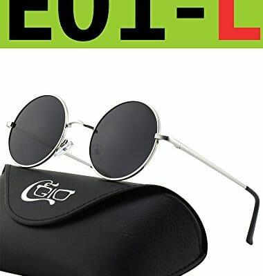 0bee83c234 CGID E01 Estilo Vintage Retro Lennon inspirado círculo metálico redondo  gafas de sol polarizadas para hombres y mujeres