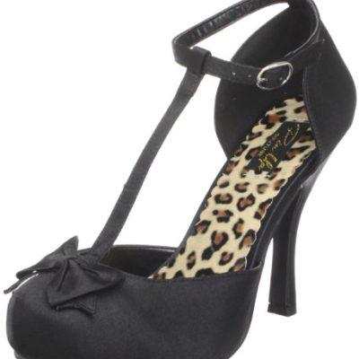 Pleaser CUTIEPIE-12 - Zapatos de Tacón para Mujer, Color Black, Talla 40 EU (7 UK)