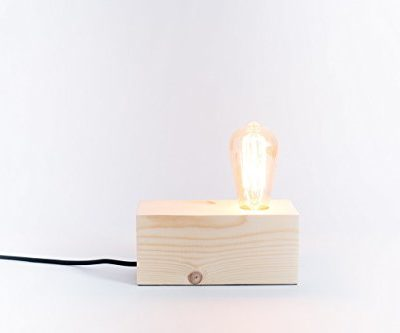 Lámpara de madera, lámpara edison, lámpara handmade, lámpara de mesa, lámpara de diseño, lámpara vintage. Lámpara Berlín.