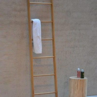 Jan Kurtz Hop toallero Madera Roble. Hop Toalla Escalera abierto 6Travesaños, 46x 176cm Interior y Exterior UNIKATE 490101