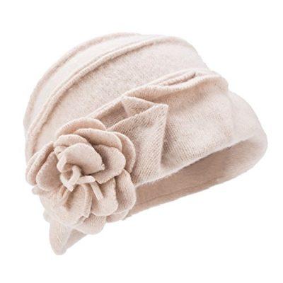 100//% de lana Sombrero de invierno para mujer estilo retro de los a/ños 20 A376 gorro con forma cuadrada