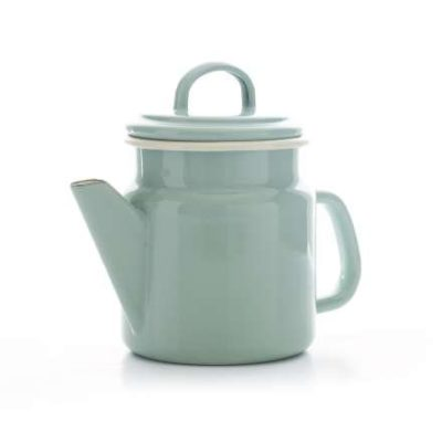 Vintage Home - Small QUALITY Enamelware COFFEE POT - SAGE GREEN - 1.2 litre by Vintage Home
