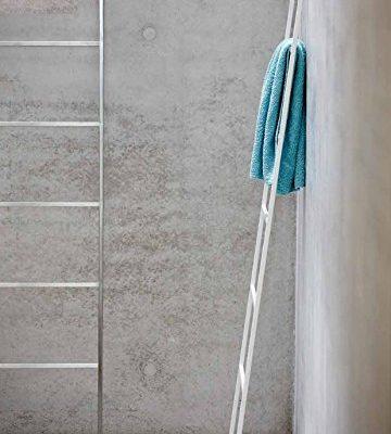 Jan Kurtz Hip metal toallero Acero Inoxidable Cepillado Mate Hip Toalla Escalera Galán perchero 7peldaños 50x 170cm interior y exterior 493092