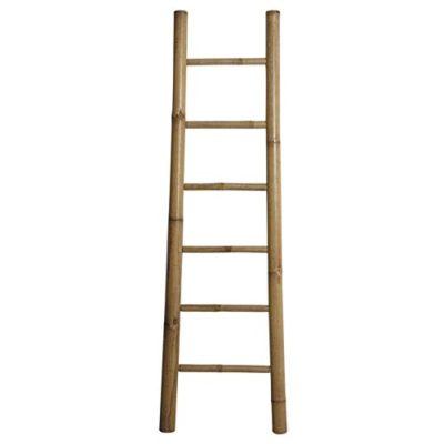 Escalera para toallas, madera de bambú natural