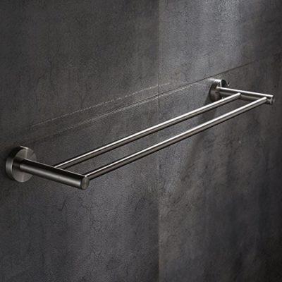 JIAHENGY Elegante y simple puñetazo 304 acero inoxidable pulido mate de  doble barra metálica gruesa baño aseo cocina Colgador de pared 50cm  Toalleros de ... e82d934758ed