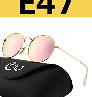 4ac8802ff3 CGID E47 Pequeño Estilo Vintage Retro Lennon inspirado círculo metálico  redondo gafas de sol polarizadas para hombres y mujeres
