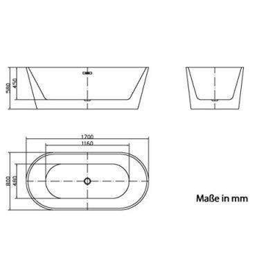 Diseño bañera Thun II bañera baño saniär Equipamiento de Jet de Line