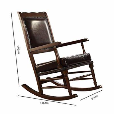 ecb9fd6b8 Rocking chair Health UK Silla Mecedora De Madera Maciza Vintage, Sillón  Individual De Cuero con Sofá Y Terraza